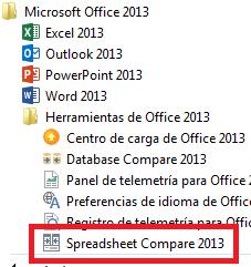 Comparador de ficheros de Excel