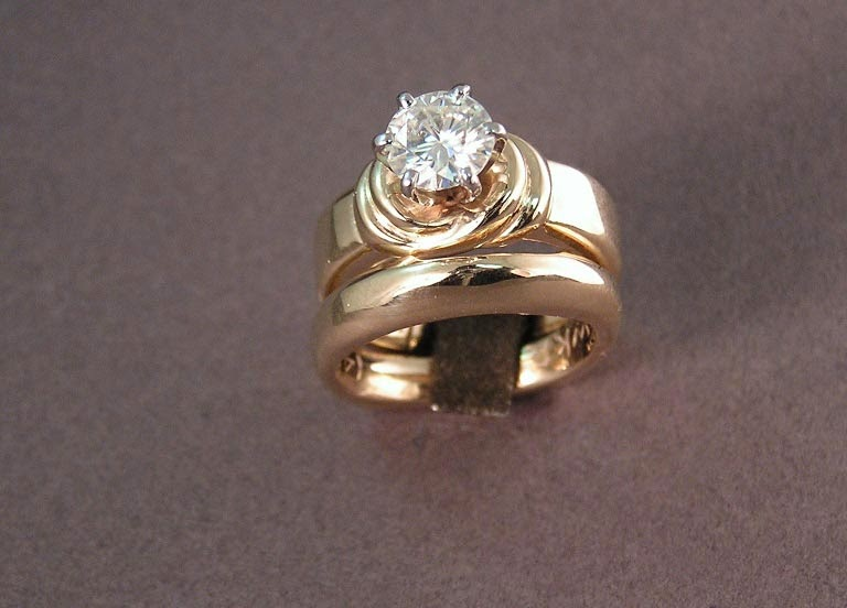 Custom Diamond Wedding Rings Sets Gold Seattle Model pictures hd
