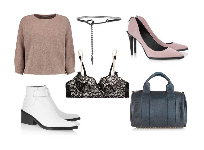 lust list, fashion blogger, style, accessories, lingerie, alexander wang, helmut lang, shoes, handbag