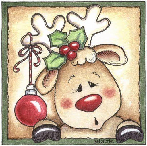 Renos de navidad para imprimir imagenes y dibujos para for Dibujos de renos en navidad