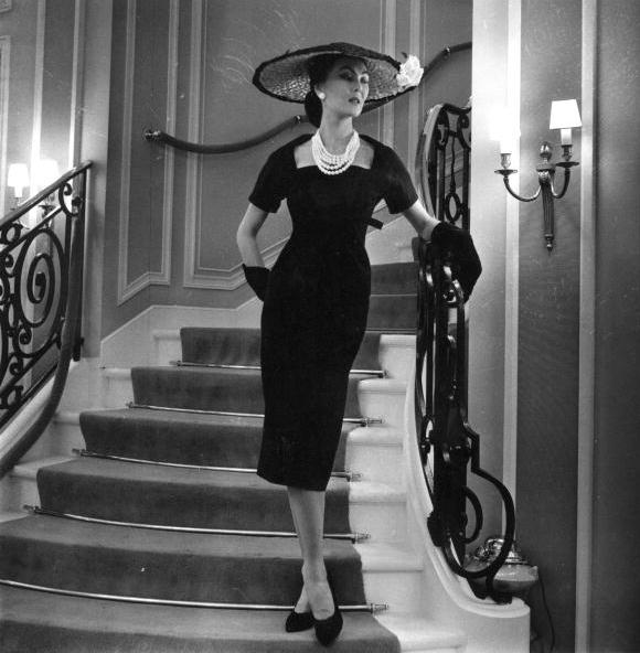1956 Little Black Dress #50s #fashion #LBD #1950s #style
