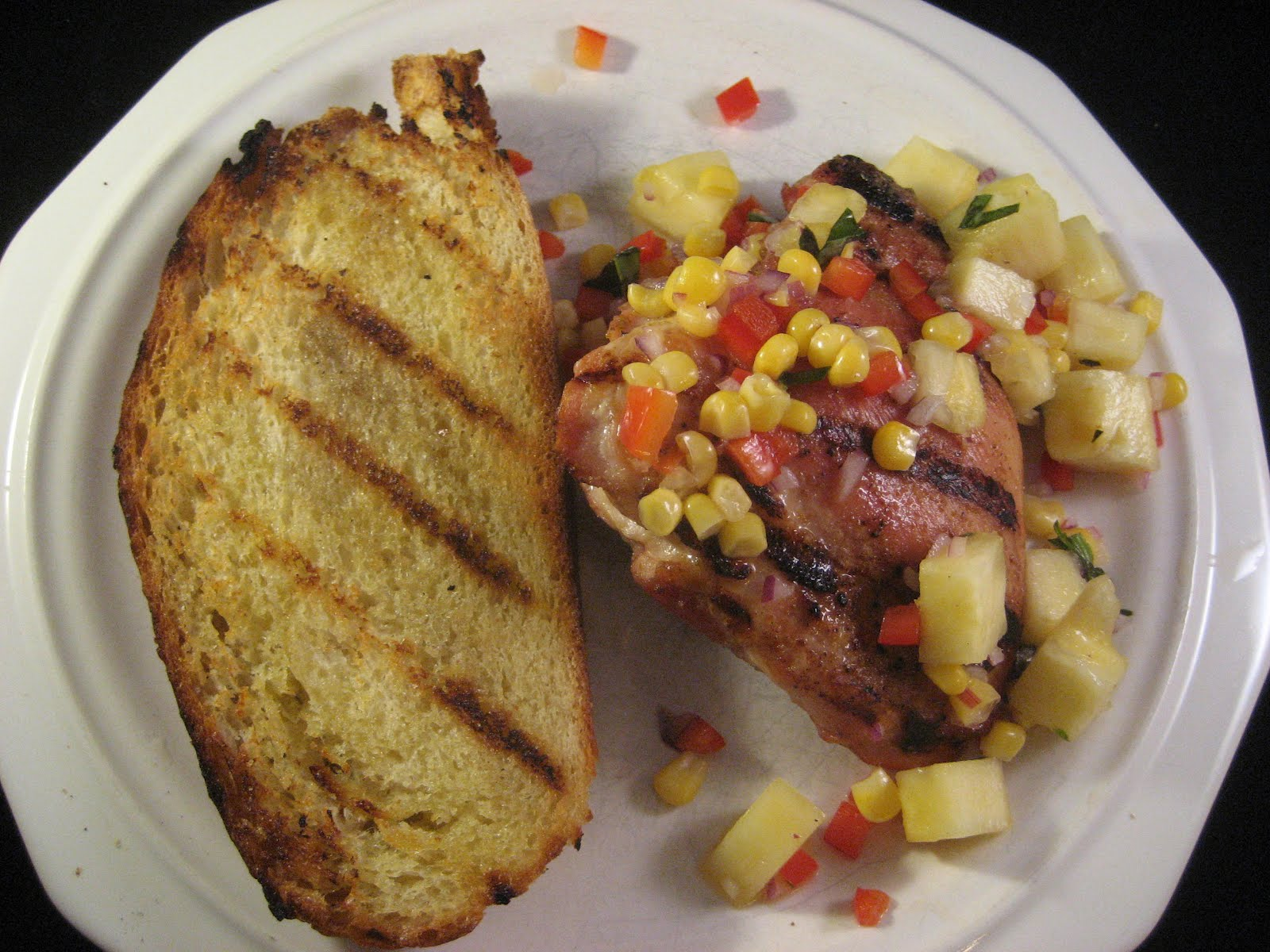 Chez Mona: Grilled Chicken Thighs with Pineapple, Corn ...