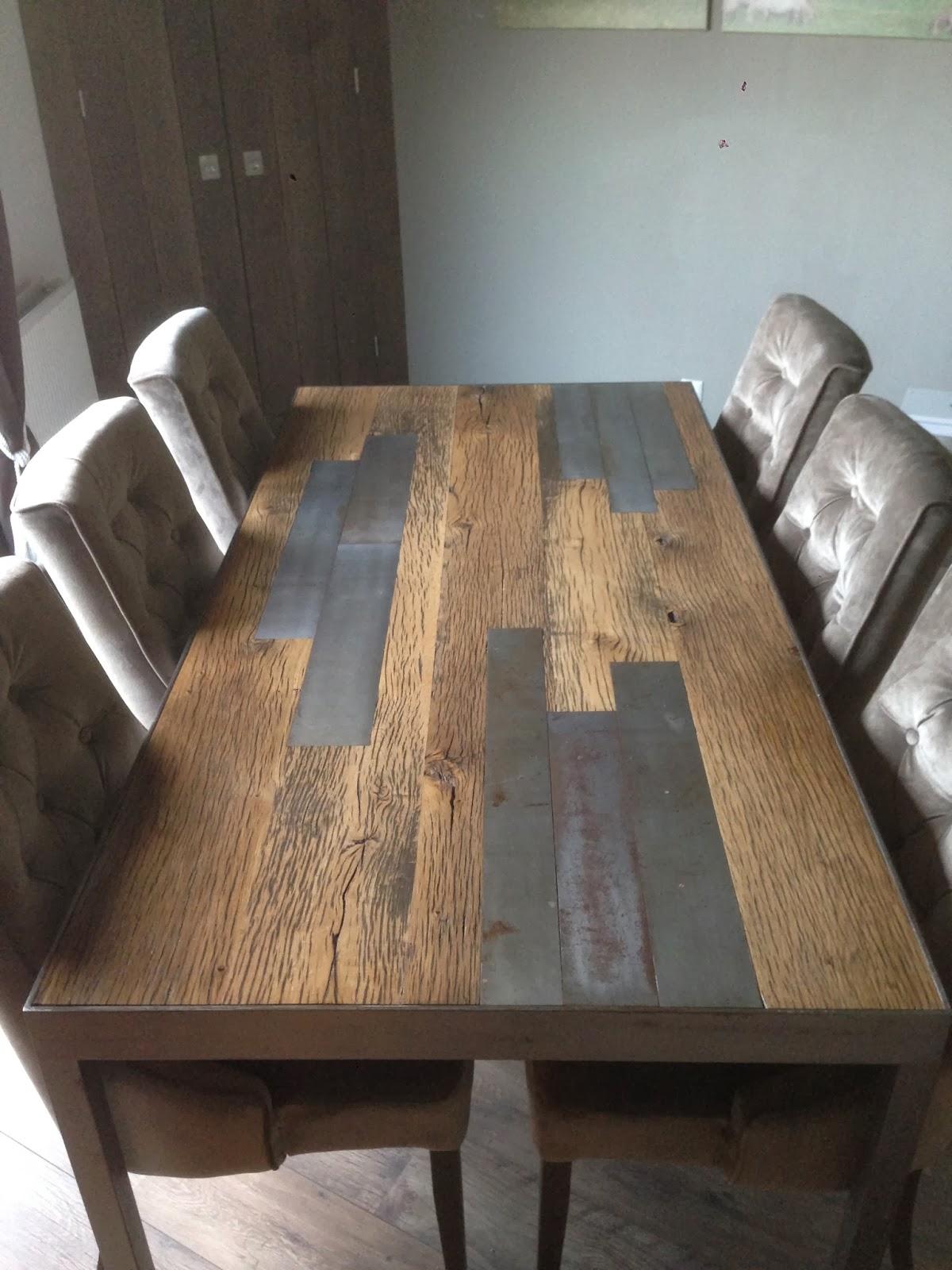 Stalen tafel met houten inleg rutger kok maatwerk in timmerwerk - Houten timmerwerk ...