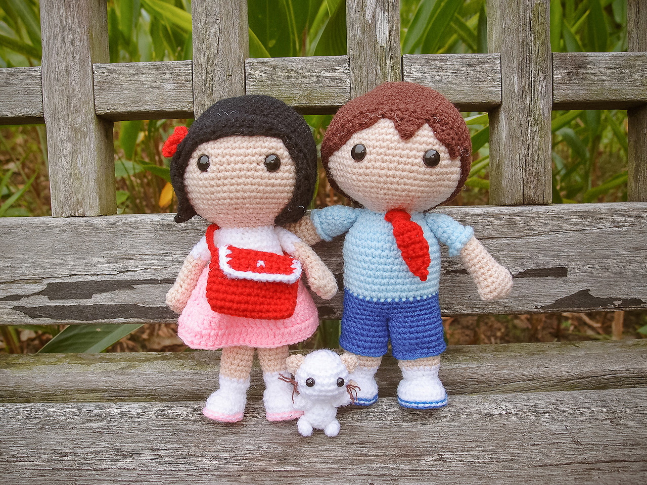 Amigurumi Free Pattern Couple : Sweet Couple Amigurumis ~ Snacksies Handicraft Corner