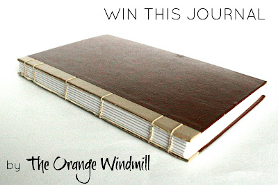 Win a hand-bound, hand-stitched vintage book cover journal