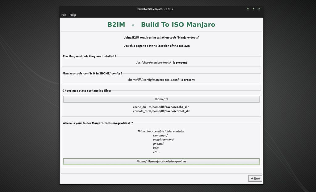 Build 2 Iso Manjaro ( b2im )