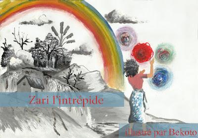 Illustration du conte malgache pour enfants Zari l'intrépide par Bekoto Paysan