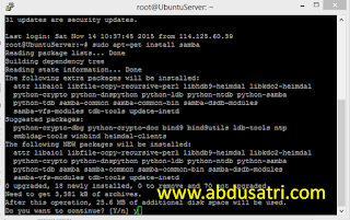 Membuat Server Samba di Linux Ubuntu Server