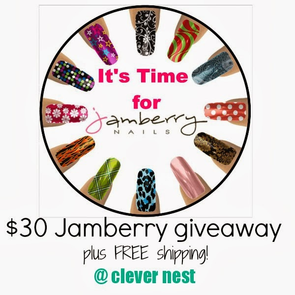 win 2 Jamberry Nail sheets + FREE shipping! at Clever Nest, enter by 2/19/14