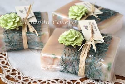 Jabones naturales detalles boda hechos a mano