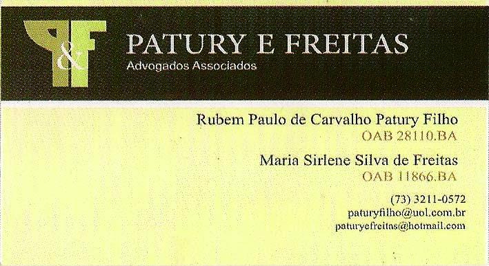 PATURY E FREITAS