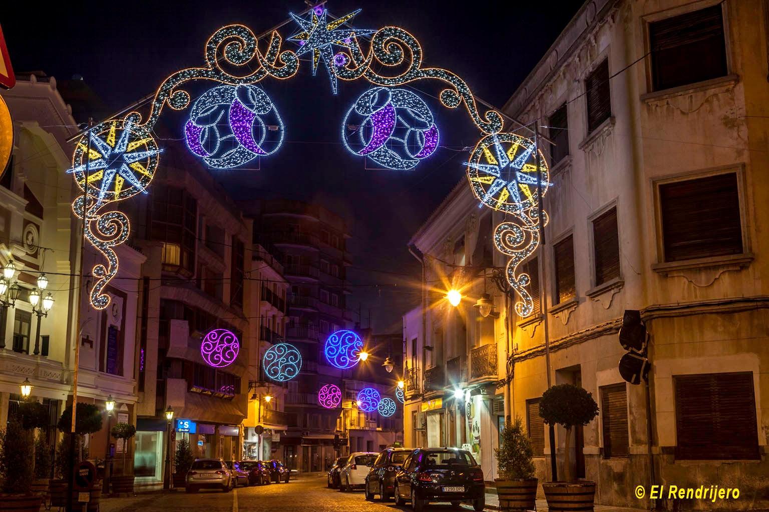 Luminaria en navidad