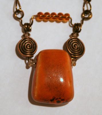 Summer Color Surprise blog hop: ceramic, antique bronze, ooak pendant :: All Pretty Things