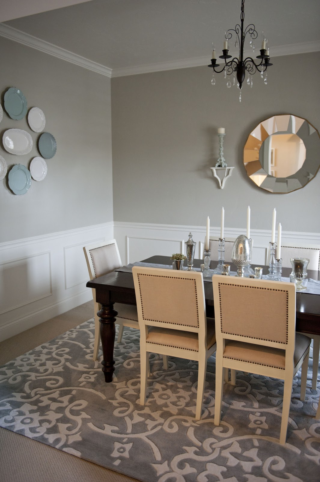 Sita montgomery interiors my home tour entry and dining room for My dining room