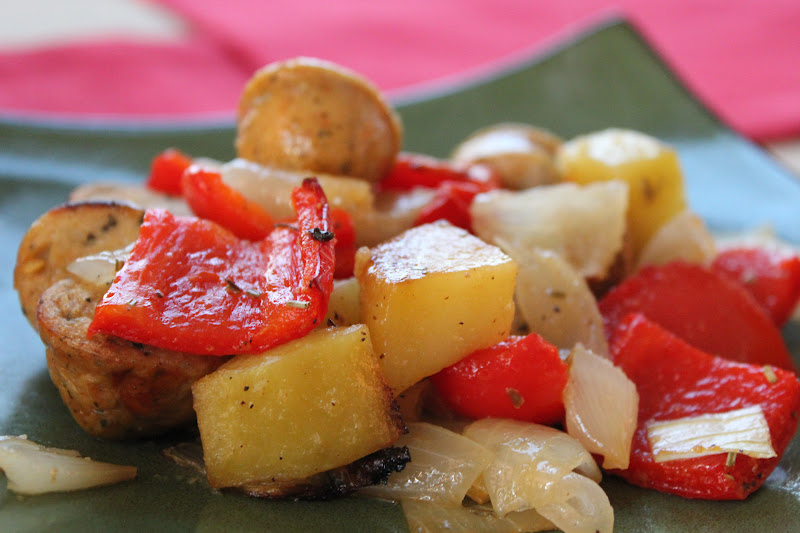 The Kipe Kitchen: Roasted Potatoes, Chicken Sausage and Peppers