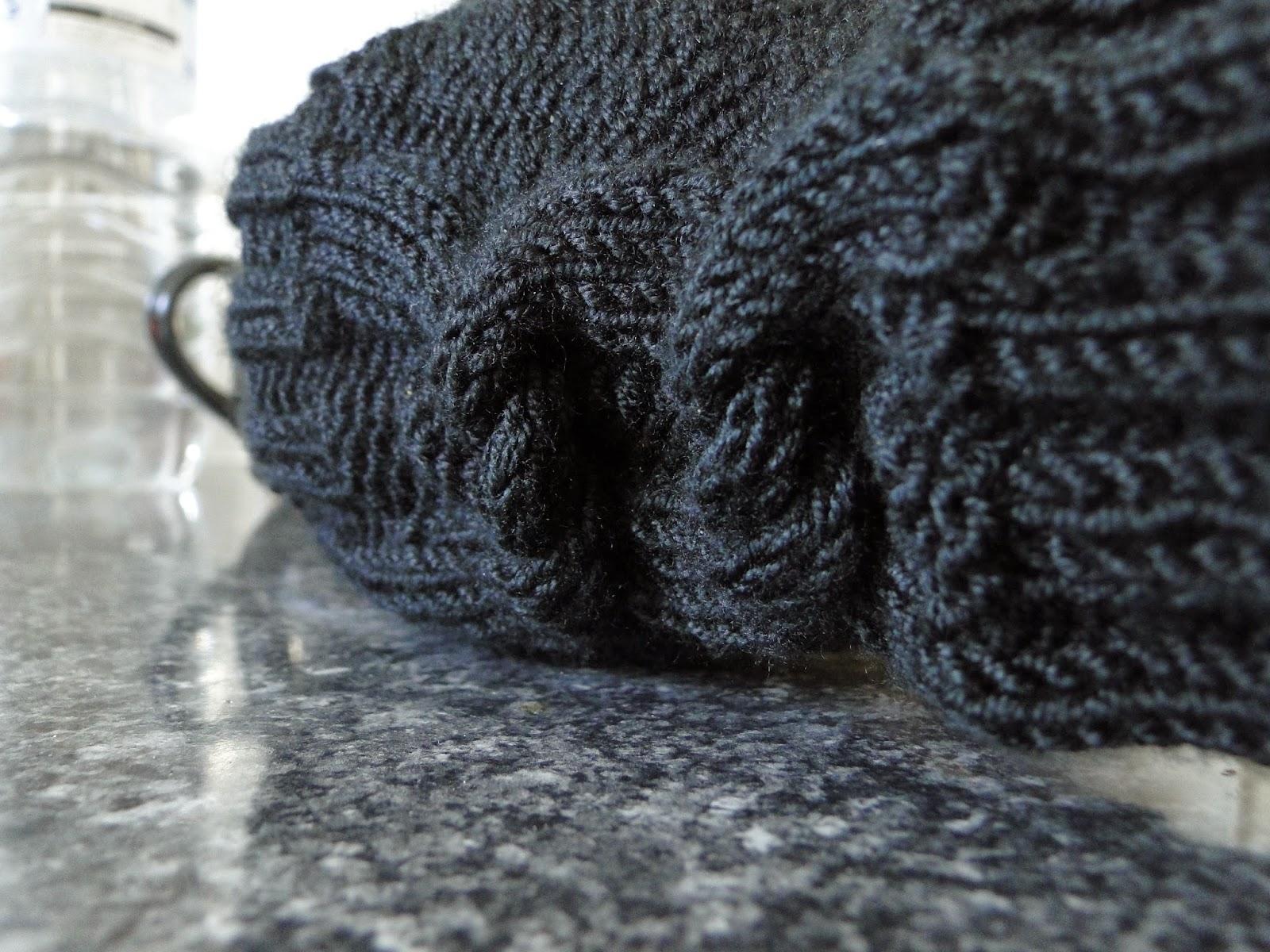 Black Fingerless Gloves Knitting Pattern