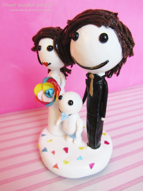 colorful cake topper with baby
