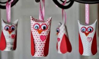 Buhos Con Tubos de Cartón Reciclados, Decoración Ecoresponsable