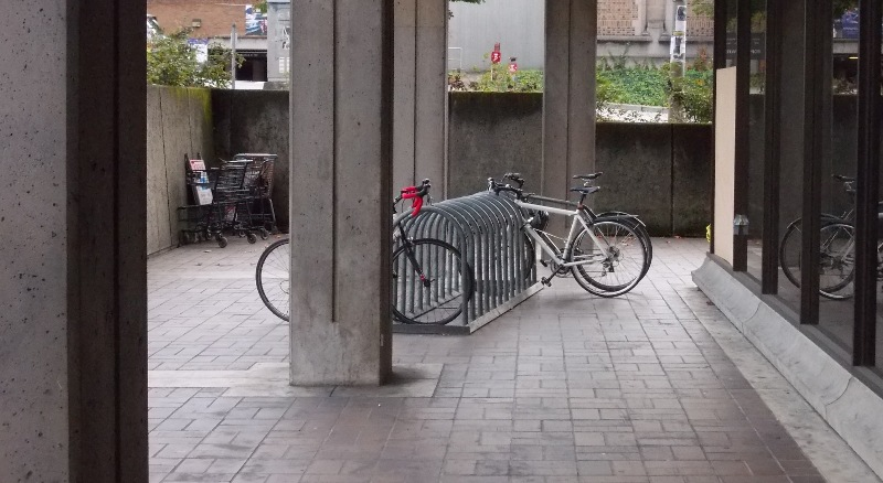 Bad location for bike rack
