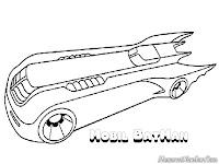 Mewarnai Gambar batmobile, mobil milik Batman