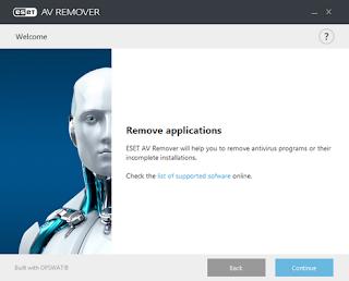 Désinstaller proprement les logiciels de sécurité avec ESET AV Remover
