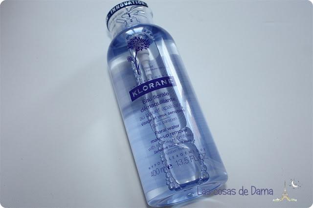 agua desmaquillante aciano klorane