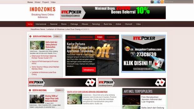 Free Template Magazine IndoZones