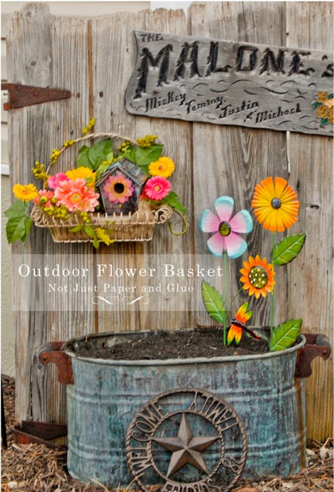 Not Just Paper and Glue: How to Make an Artificial Hanging Flower Basket for Your Garden