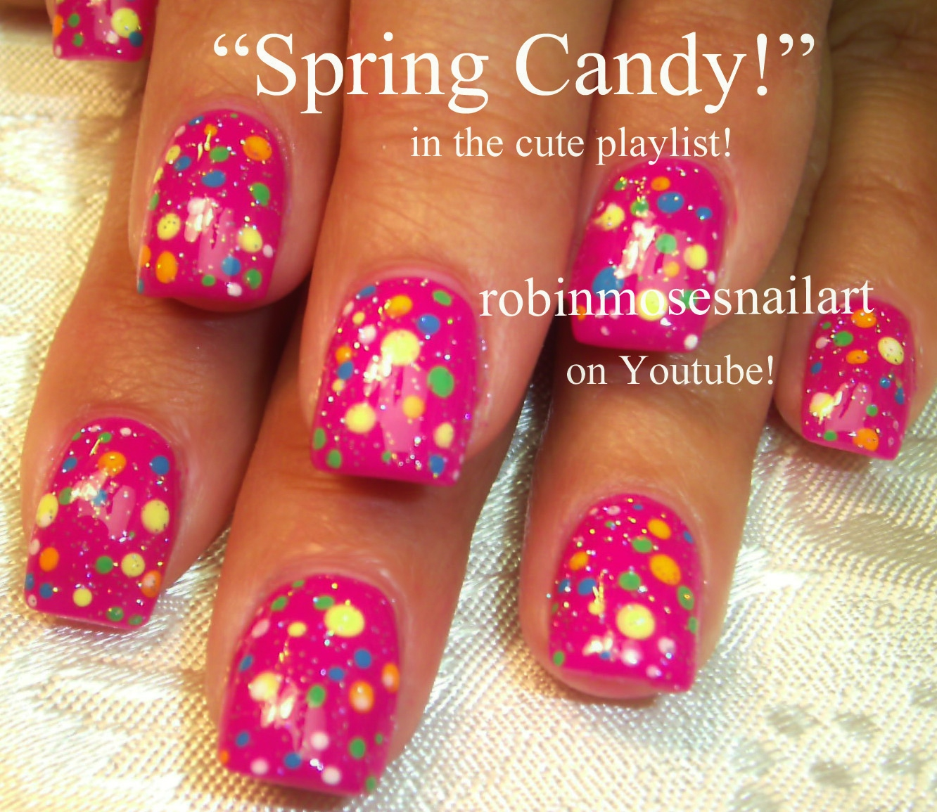 Robin moses nail art cutest nails ever easy cutest nails polka cutest nails ever easy cutest nails polka dot nails simple candy dots nail art prinsesfo Gallery