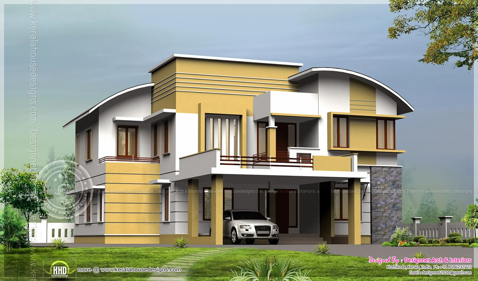 289 Square Yards 4 Bhk House Exterior Kerala Home Design And Floor