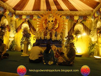 Attractive  Ganesh Chaturthi Decoration Near Bhagal Road Surat