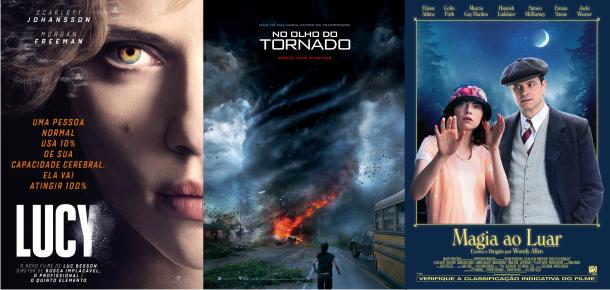 Estreias da semana (28/08): Lucy, No Olho do Tornado, Magia ao Luar e A 100 passos de um sonho