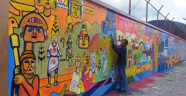 Pamplona news la historia de pamplona plasmada en un mural for Caracteristicas de un mural