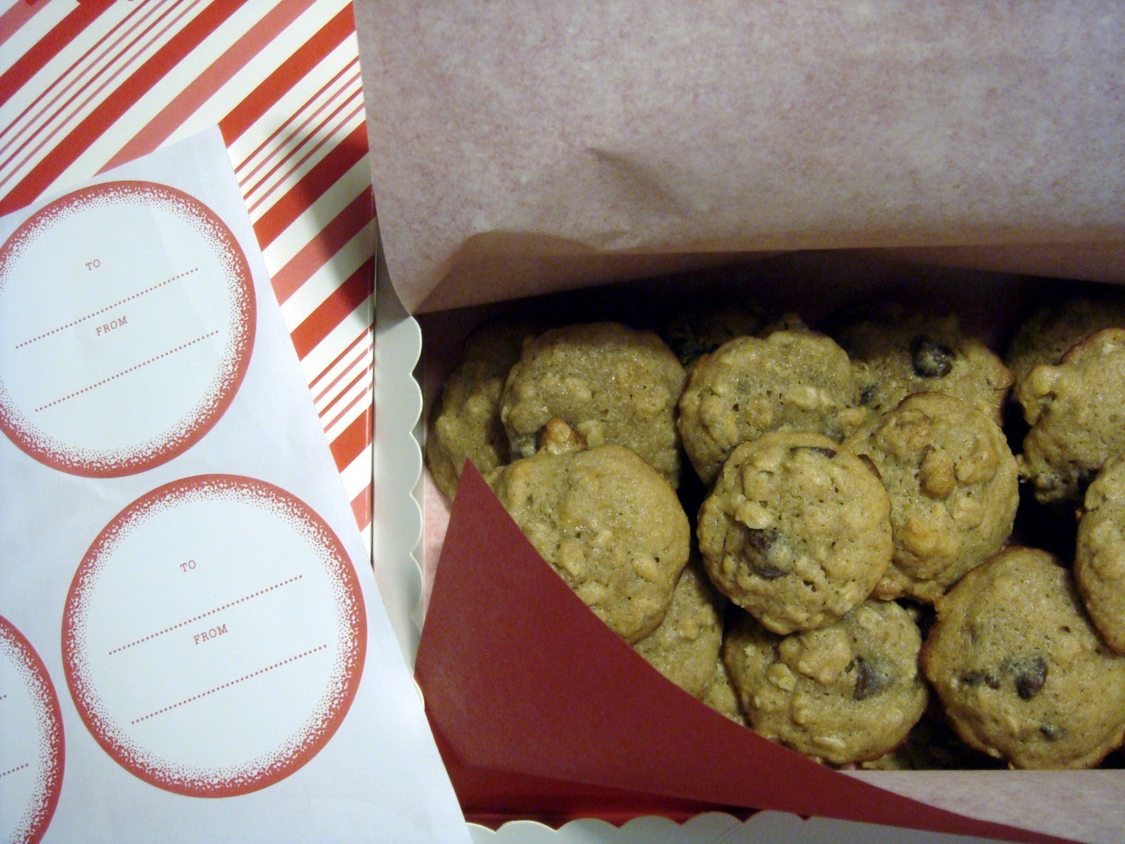 the little olive branch: banana-walnut chocolate chip cookies