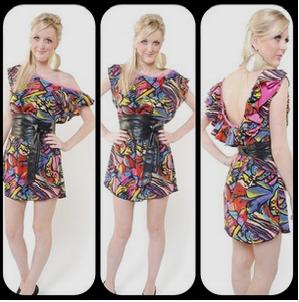 moyaah print shift dress print ruffle dress