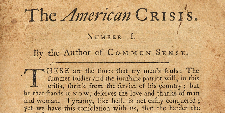 the american crisis by thomas paine essay