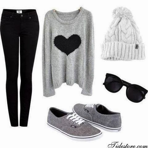 Sweet Round Neckline Heart-shaped Long Sleeve Sweater, Korean Style Slim Thick Skinny Jeans