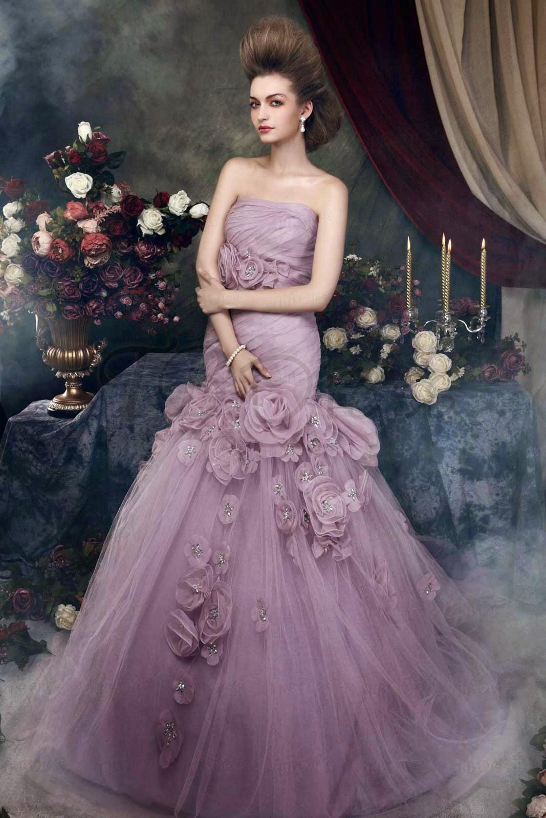 Purple Colored Wedding Dresses Ideas Photos HD Concepts Ideas