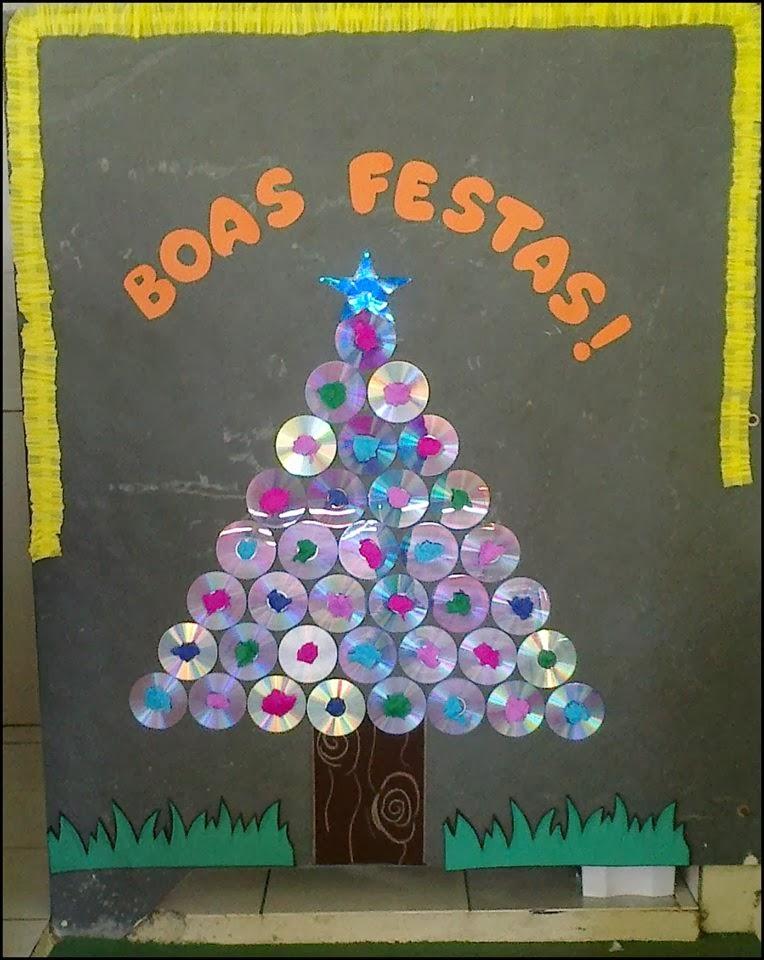 El arte de educar ideas para decorar la escuela en las - Murales decorativos de navidad ...