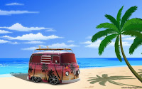 beach cartown wallpaper