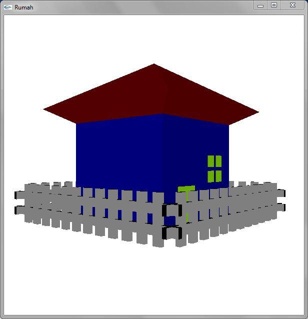 liphoe membuat rumah sederhana dengan opengl