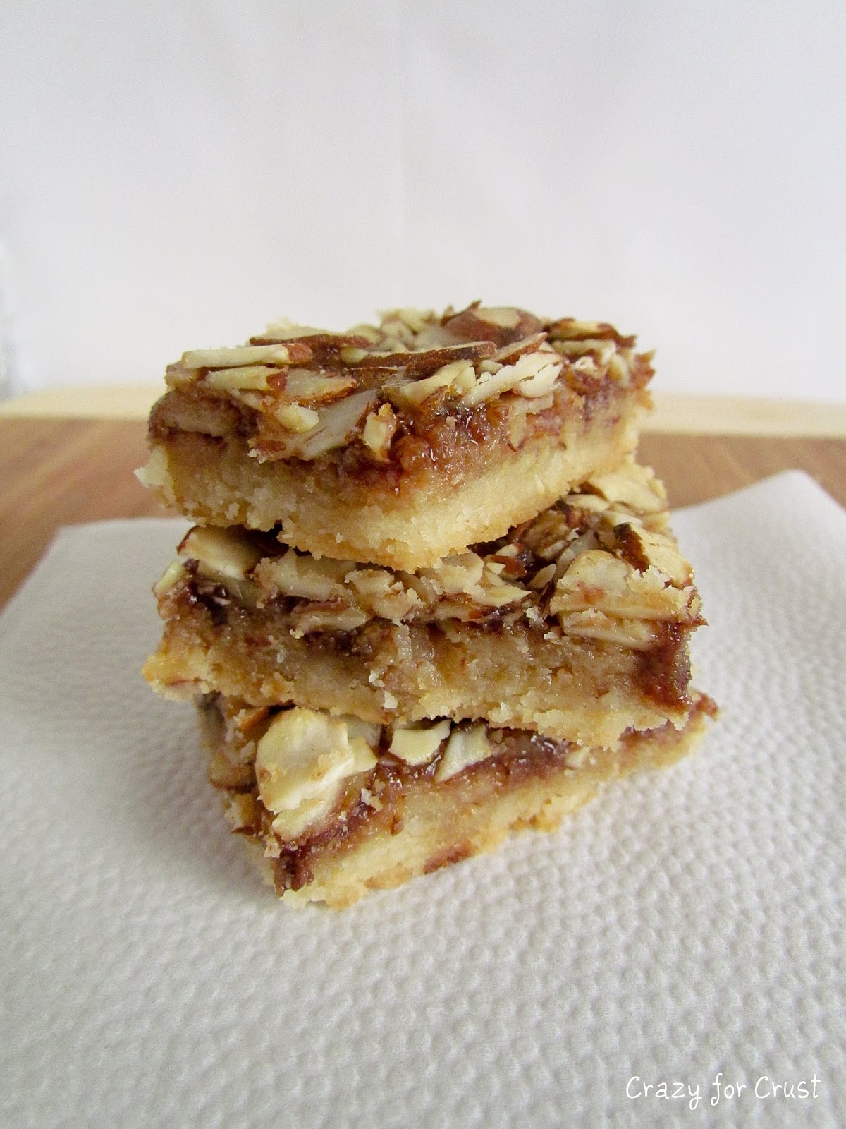 Almond Toffee Bars - Crazy for Crust