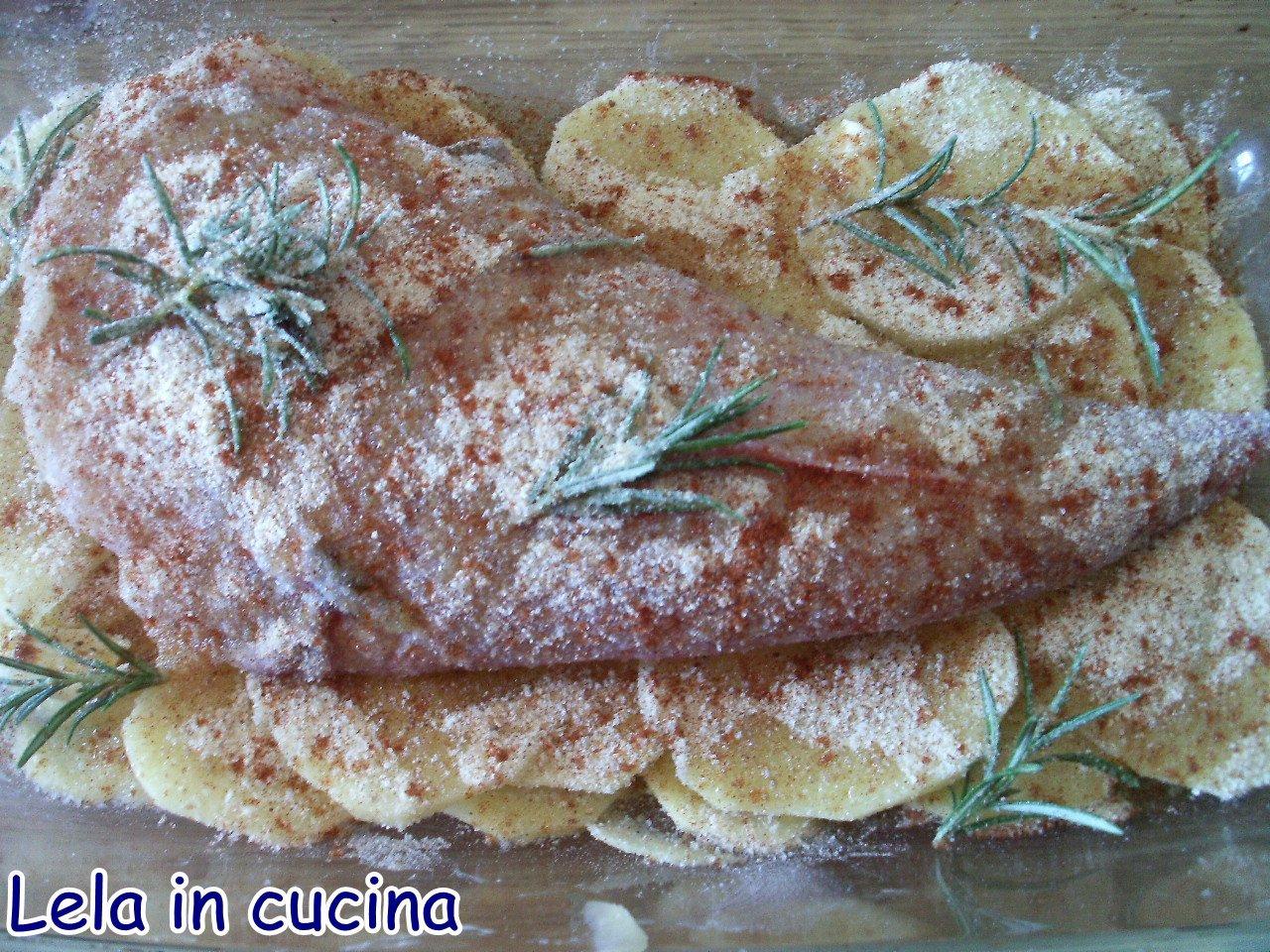 LELA IN CUCINA tutti possono cucinare: coda di rospo al forno alla ...