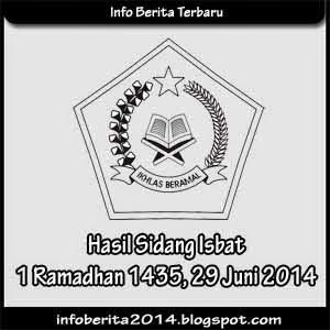 Hasil Sidang Isbat 1 Ramadhan 1435 H / 2014