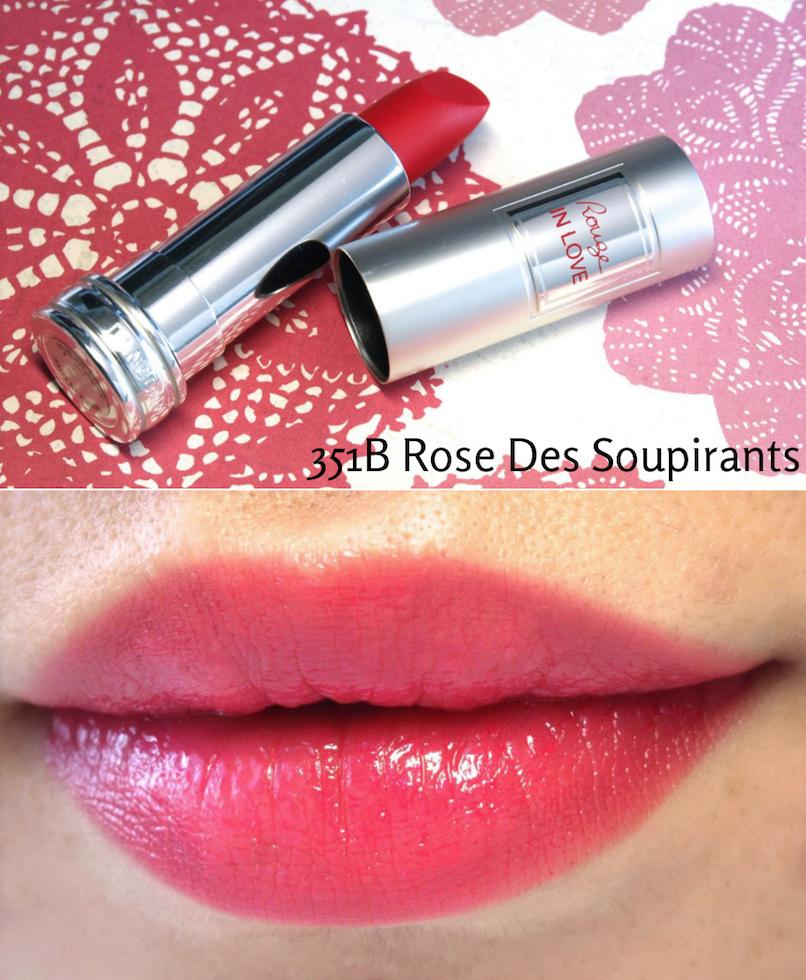 lancome rouge in love 351B Rose Des Soupirants
