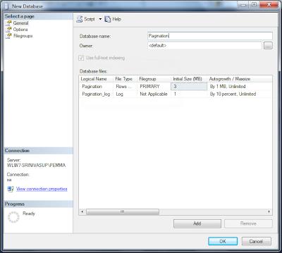 pagination database