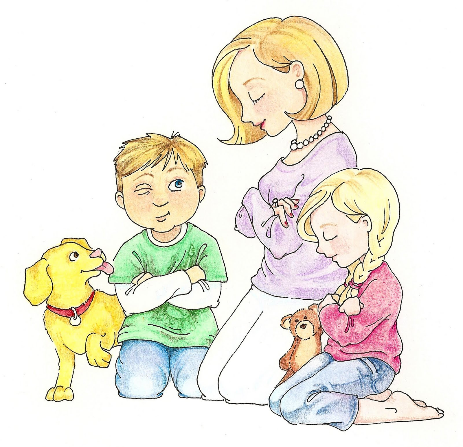 children praying clipart - photo #19