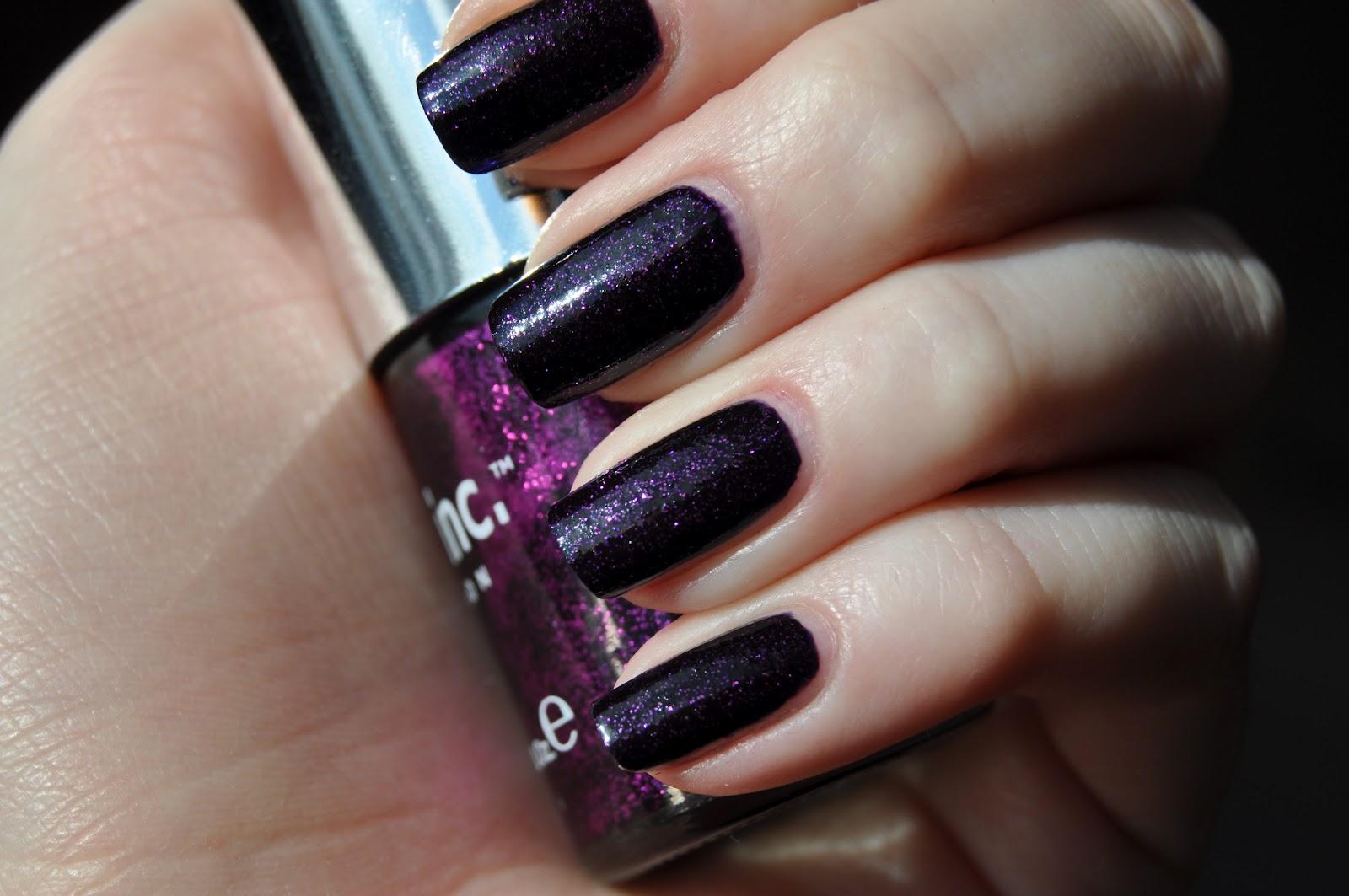 Triple purple glitter mani!   Abbienail