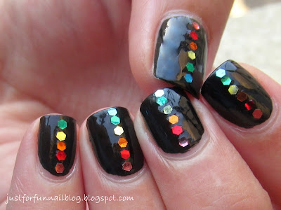 31DC2013 Day 9 - Rainbow: black & rainbow sequins :)