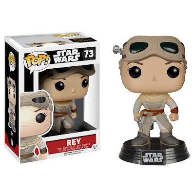 "Hot Topic Exclusive Star Wars The Force Awakens ""Helmeted"" Rey Pop! Vinyl Figure by Funko"